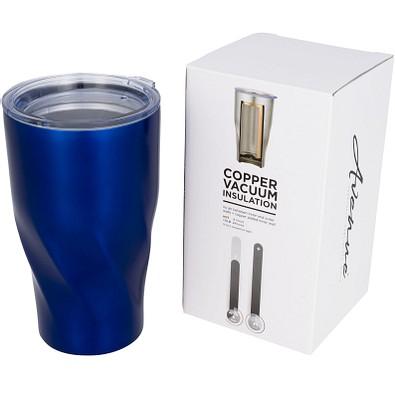 Hugo Kupfer-Vakuum Isolierbecher, 470 ml, blau