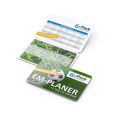 geiger notes Info-Card Fußball EM, inkl. Druck, gloss