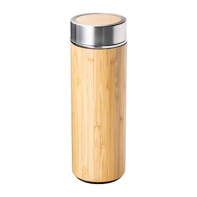 retumbler® Isolierflasche mit Teesieb Adamuz, 360 ml, hellbraun
