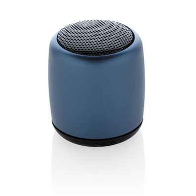 XD COLLECTION Kabelloser Mini-Lautsprecher aus Aluminium, blau