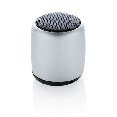 XD COLLECTION Kabelloser Mini-Lautsprecher aus Aluminium, silber