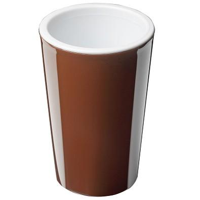 "Kaffeebecher ""Mocca"", braun/weiß"