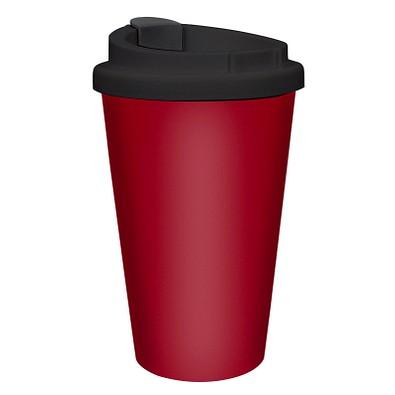 """Kaffeebecher """"PremiumPlus"""", standard-rot/schwarz"""