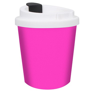 Kaffeebecher PremiumPlus small, 250 ml, rosa/weiß