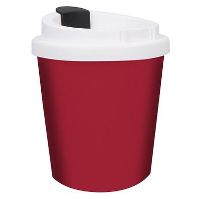 Kaffeebecher PremiumPlus small, 250 ml, standard-rot/weiß