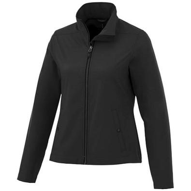 ELEVATE Damen Softshell Jacke Karmine, schwarz, XL