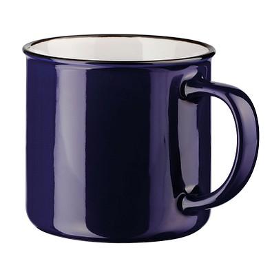 Keramiktasse Camper, 360 ml, dunkelblau