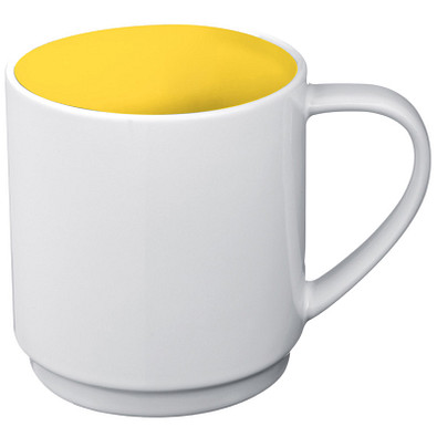 Keramiktasse Lockport,gelb