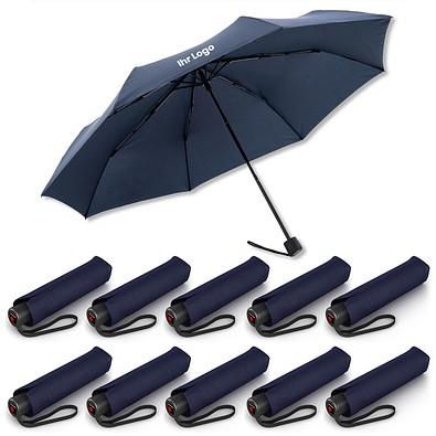 10 Knirps® Regenschirme  inkl. 1-fbg. Druck -  A.050 Medium Manual im Spar-Preis, navy