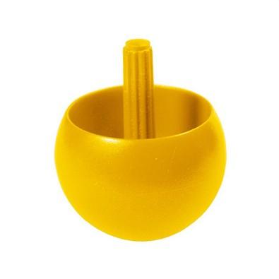 Kreisel Stehauf, 29 mm, klein, standard-gelb