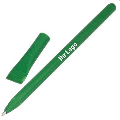 Kugelschreiber aus Papier, grün