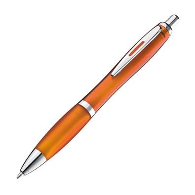 Druckkugelschreiber Moscow, blaue Mine, orange