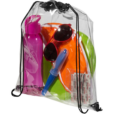 Lancaster Premium Sportbeutel, transparent klar