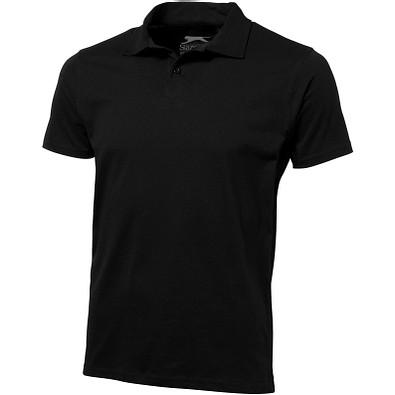 Slazenger™ Herren Poloshirt Let Jersey, schwarz, S