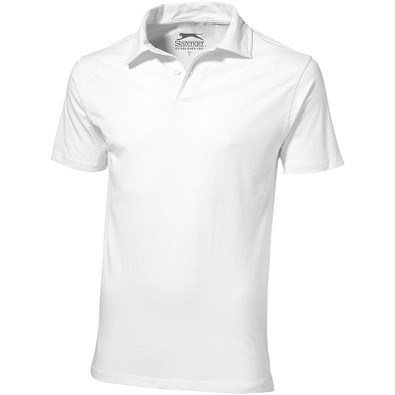 Slazenger™ Herren Poloshirt Let Jersey, weiß, XXXL