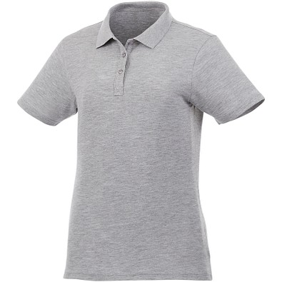 ELEVATE Damen Poloshirt Liberty, heather grau, XXL
