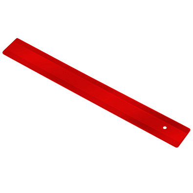 Lineal 30 cm, transluzent-rot