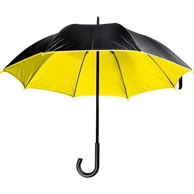 Luxuriöser Regenschirm mit doppelter Bespannung aus Polyester, gelb