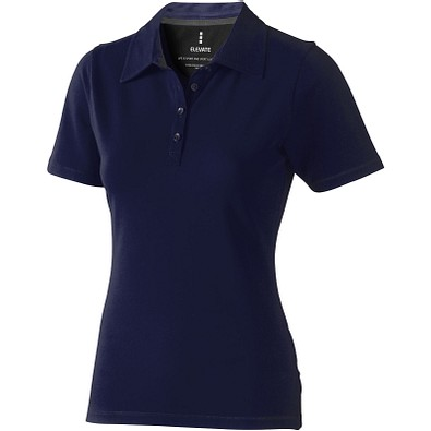 ELEVATE Damen Stretch Poloshirt Markham, dunkelblau, XXL