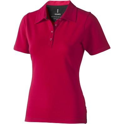 ELEVATE Damen Stretch Poloshirt Markham, rot, XXL