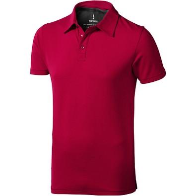 ELEVATE Herren Stretch Poloshirt Markham, rot, XXL