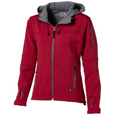 Slazenger™ Damen Softshell Jacke Match mit Kapuze, rot, S