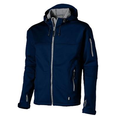 Slazenger™ Herren Softshell Jacke Match mit Kapuze, dunkelblau, L