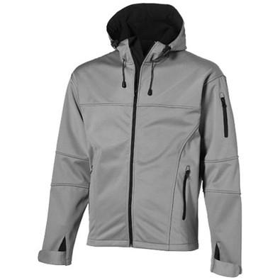 Slazenger™ Herren Softshell Jacke Match mit Kapuze, grau, L