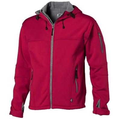 Slazenger™ Herren Softshell Jacke Match mit Kapuze, rot, XL