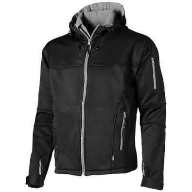 Slazenger™ Herren Softshell Jacke Match mit Kapuze, schwarz, M