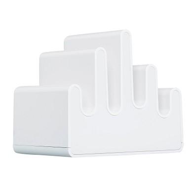 reflects® Mehrfach USB Ladestation mit Wechsellichtfunktion Burgundy, weiß