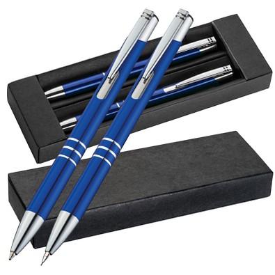 Metall-Schreibset Minsk, blaue Mine, Blau