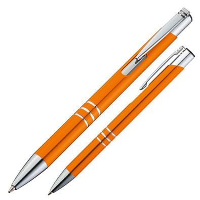 Metall-Kugelschreiber Minsk, blaue Mine, orange