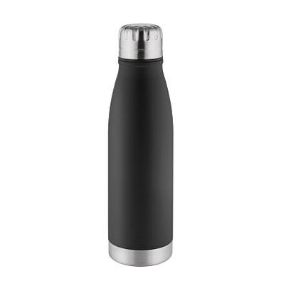 METMAXX® Edelstahl-Trinkflasche 500 ml, Antibak, schwarz