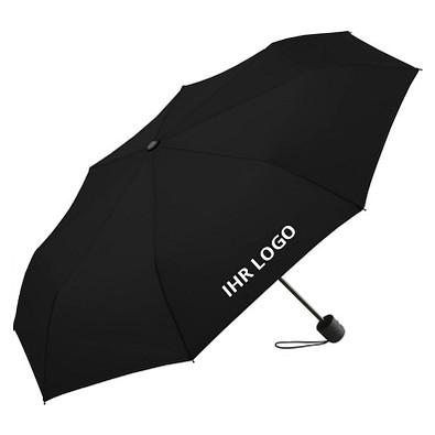FARE® Mini-Taschenschirm mit Einkaufstasche ÖkoBrella-Shopping, schwarz