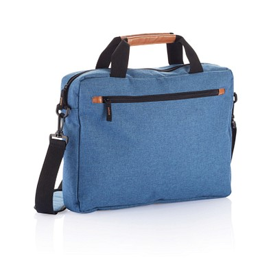 XD COLLECTION Laptoptasche Duo Tone, PVC frei, blau