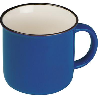 Nostalgietasse aus Keramik, 350ml, blau