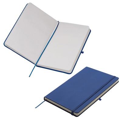 Notizbuch Happy, DIN A5, blanko, blau