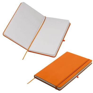 Notizbuch Happy, DIN A5, blanko, orange