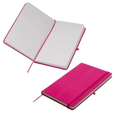 Notizbuch Happy, DIN A5, blanko, pink