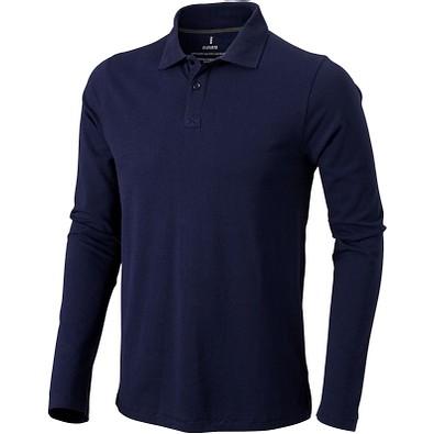 ELEVATE Herren Langarm Poloshirt Oakville, dunkelblau, S