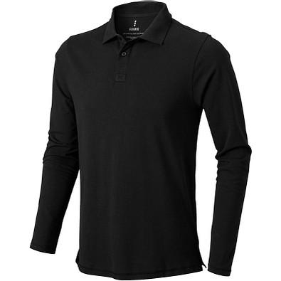 ELEVATE Herren Langarm Poloshirt Oakville, schwarz, S
