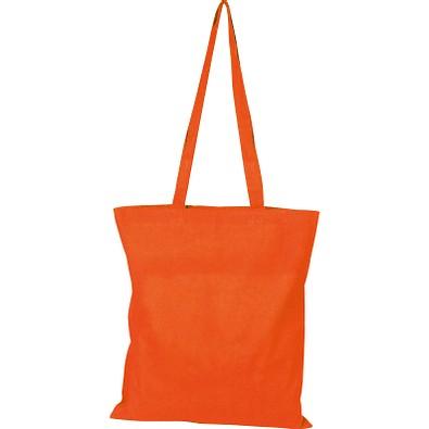 Oeko-Tex® STANDARD 100 Baumwolltasche mit langen Henkeln, 140g/m², orange