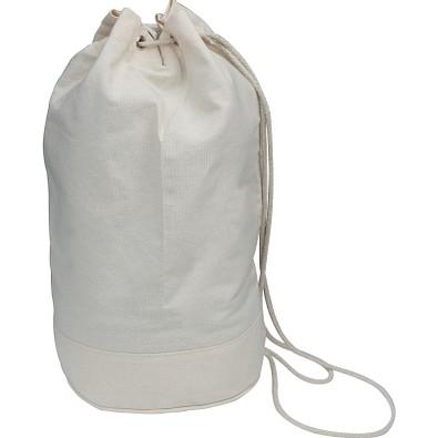 Oeko-Tex® STANDARD 100 Seesack aus Baumwolle mit Kordelzug, weiß