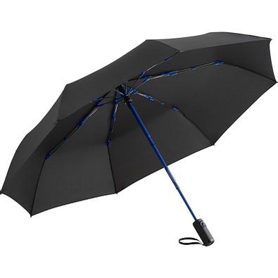 FARE® Oversize Taschenschirm Colorline, schwarz/euroblau