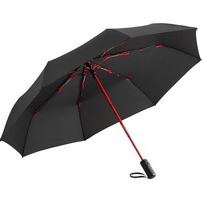 FARE® Automatik-Taschenschirm Colorline Oversize, schwarz/rot