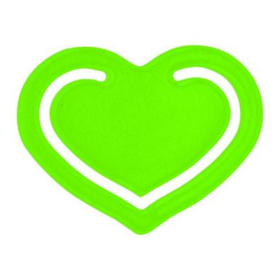 """Papierklammer """"Herz"""", transparent-grün"""