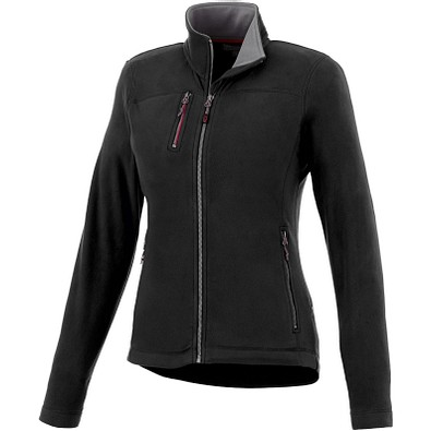 Slazenger™ Damen Fleecejacke Pitch, schwarz, L
