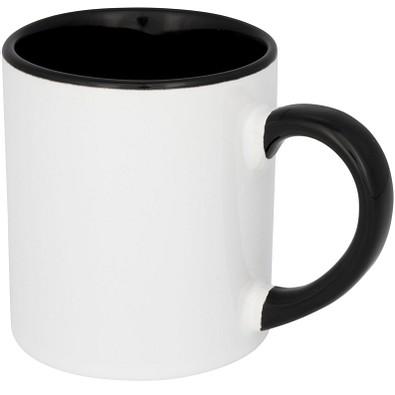 Pixi Mini farbige Sublimations-Tasse, 250 ml, schwarz