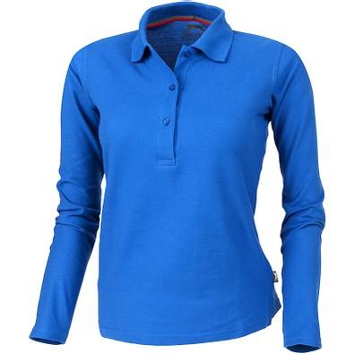 Slazenger™ Damen Langarm Poloshirt Point, himmelblau, XXL